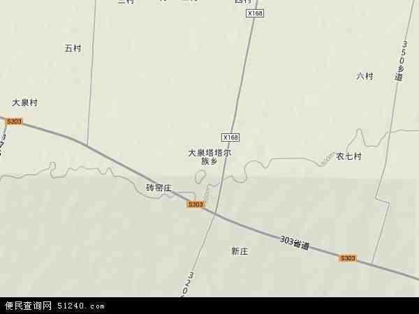 塔塔尔乡地图 - 塔塔尔乡卫星地图
