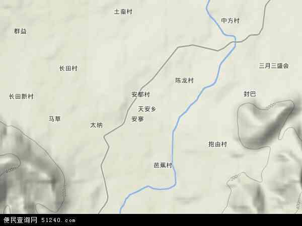 中国海南省省直辖县级行政区划东方市天安乡地图(卫星地图)