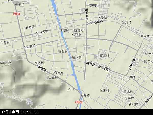 中国浙江省温州市瑞安市塘下镇地图(卫星地图)