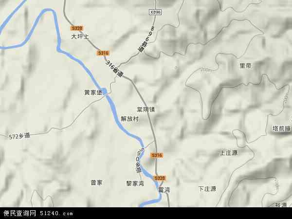 中国江西省抚州市宜黄县棠阴镇地图(卫星地图)
