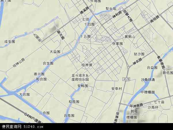 坦洲镇地图 - 坦洲镇卫星地图