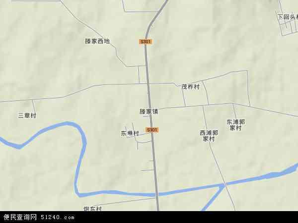 中国山东省威海市荣成市滕家镇地图(卫星地图)