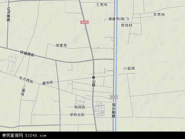 中国辽宁省盘锦市大洼县田家镇地图(卫星地图)