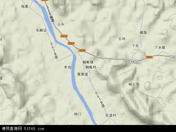 中国江西省上饶市广丰县桐畈镇地图(卫星地图)图片