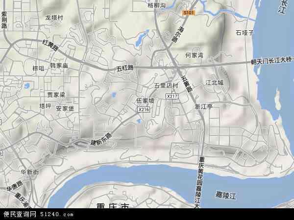 重庆市江北区乡镇地图_重庆市江北区