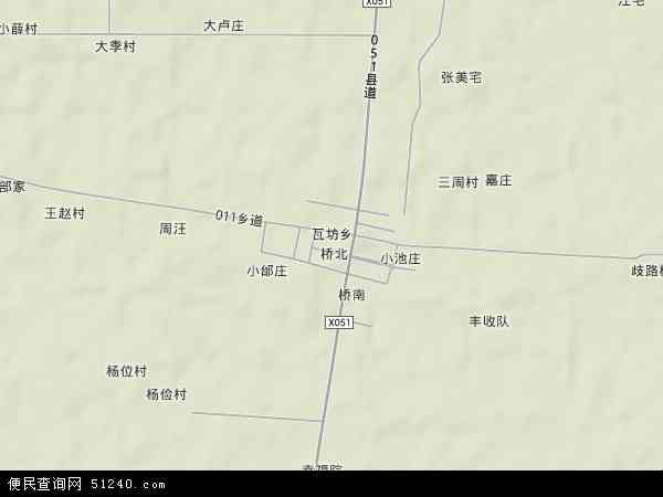 中国安徽省宿州市泗县瓦坊乡地图(卫星地图)