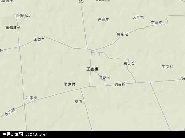 中国辽宁省葫芦岛市绥中县王宝镇地图(卫星地图)
