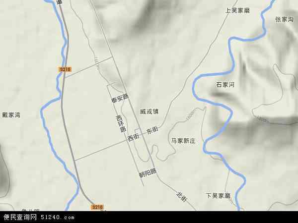 威戎镇地图 威戎镇卫星地图 威戎镇高清航拍地图 威戎镇高清卫星地图
