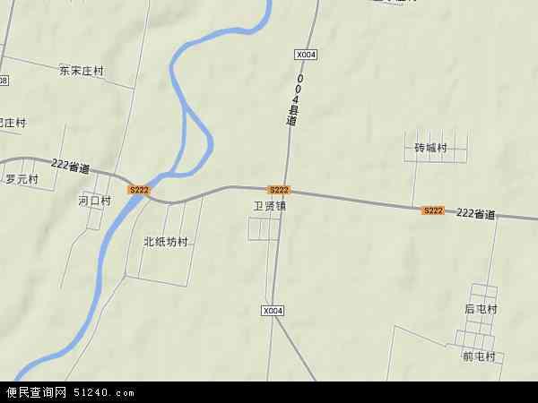 卫贤镇地图 - 卫贤镇卫星地图