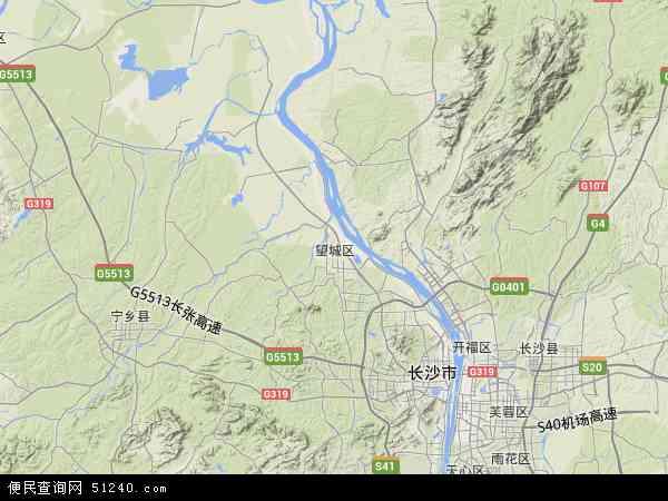 中国湖南省长沙市望城区地图(卫星地图)