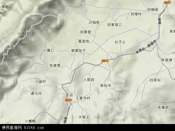中国贵州省毕节市纳雍县文昌地图(卫星地图)