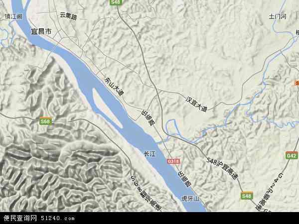 中国湖北省宜昌市伍家岗区地图(卫星地图)