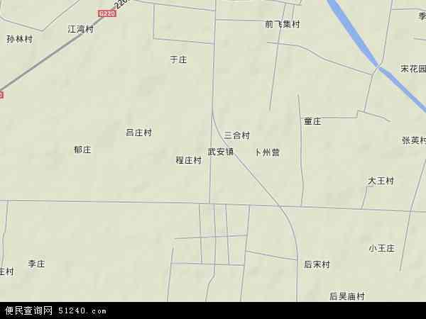 武安镇地图 - 武安镇卫星地图