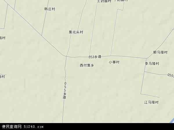 中国河北省邯郸市大名县西付集乡地图(卫星地图)