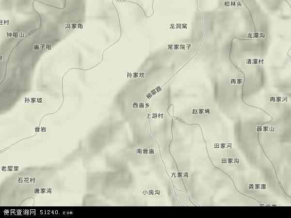 西庙乡地形地图