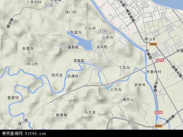 西宁乡地形地图