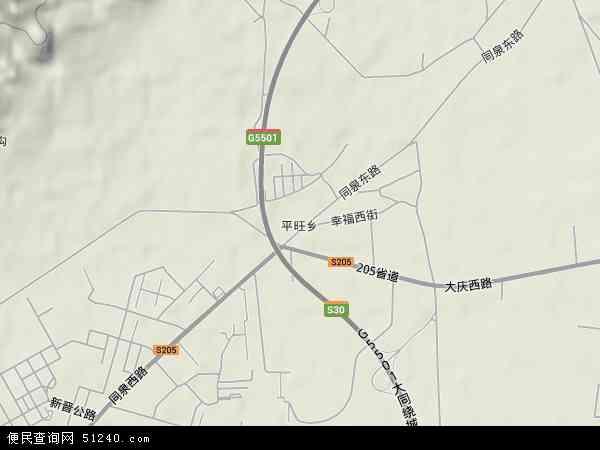 中国山西省大同市矿区新平旺地图(卫星地图)