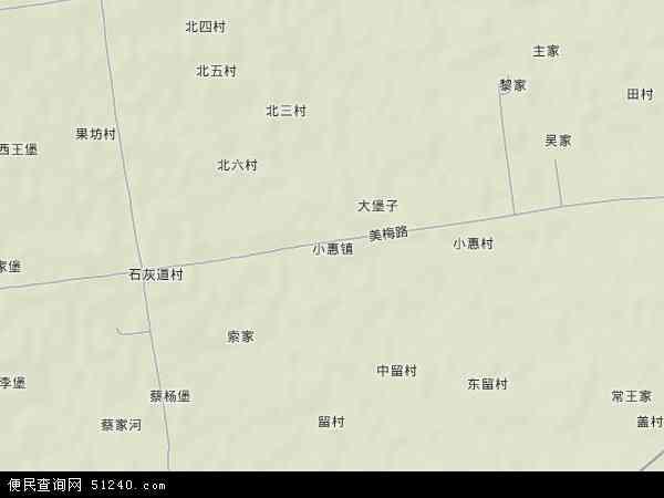 中国陕西省渭南市富平县小惠镇地图(卫星地图)图片