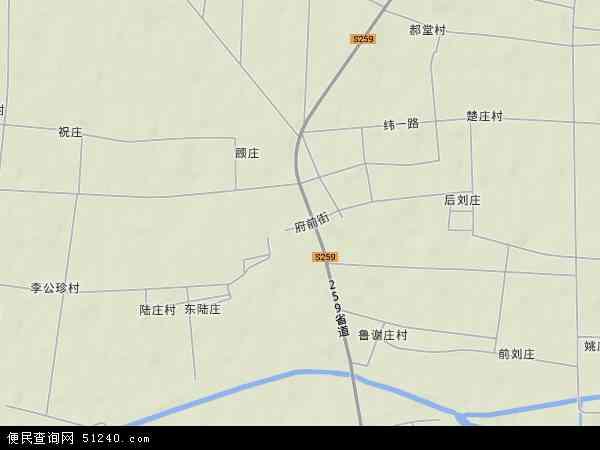 中国山东省菏泽市牡丹区小留镇地图(卫星地图)