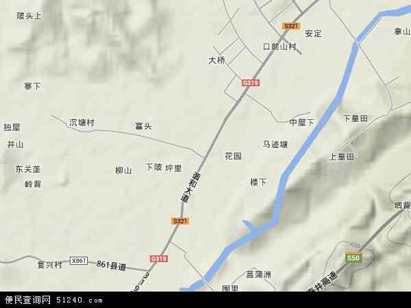 中国江西省吉安市井冈山市厦坪镇地图(卫星地图)