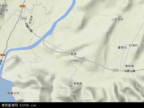 中国天津市蓟县下营镇地图(卫星地图)