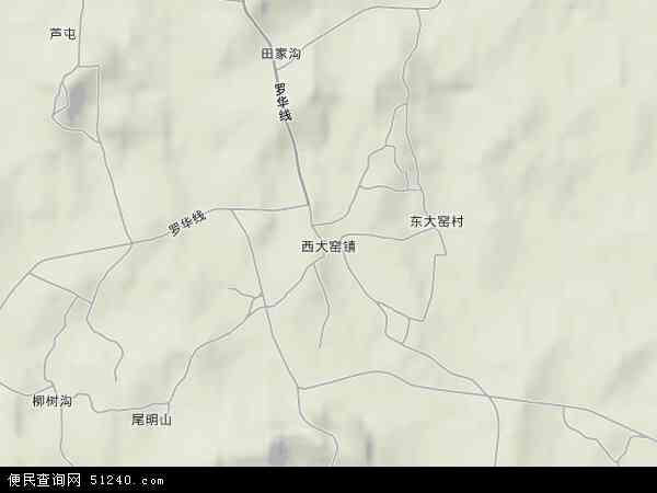 中国辽宁省辽阳市灯塔市西大窑镇地图(卫星地图)