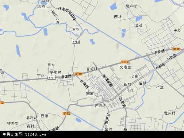 中国广东省佛山市顺德区杏坛镇地图(卫星地图)