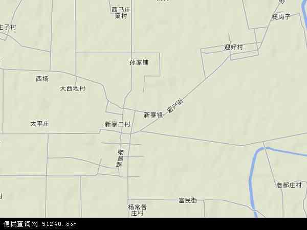 中国河北省唐山市乐亭县新寨镇地图(卫星地图)