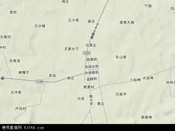 中国湖北省襄阳市枣阳市熊集镇地图(卫星地图)