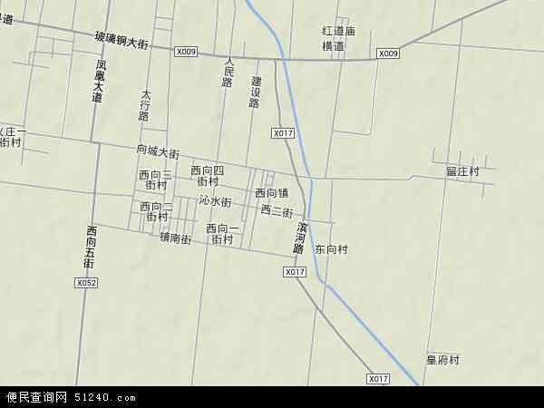 中国河南省焦作市沁阳市西向镇地图(卫星地图)