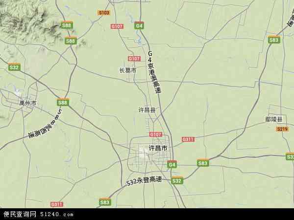 许昌县地图 - 许昌县卫星地图