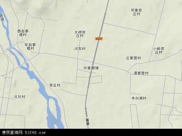 中国山东省临沂市沂水县许家湖镇地图(卫星地图)