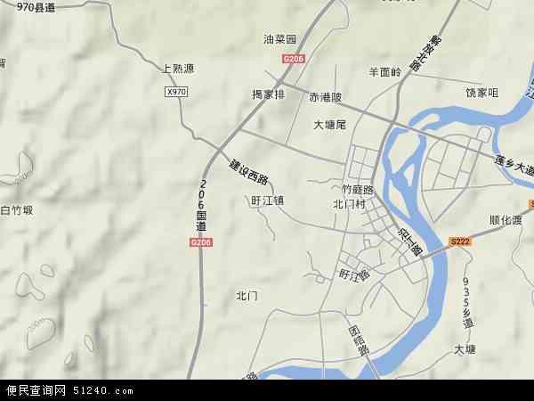 中国江西省抚州市广昌县盱江镇地图(卫星地图)