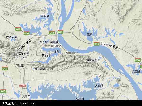 中国 湖北省 黄石市 西塞山区  本站收录有:2018西塞山区卫星地图高清