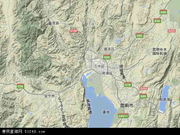 西山区地图 - 西山区卫星地图