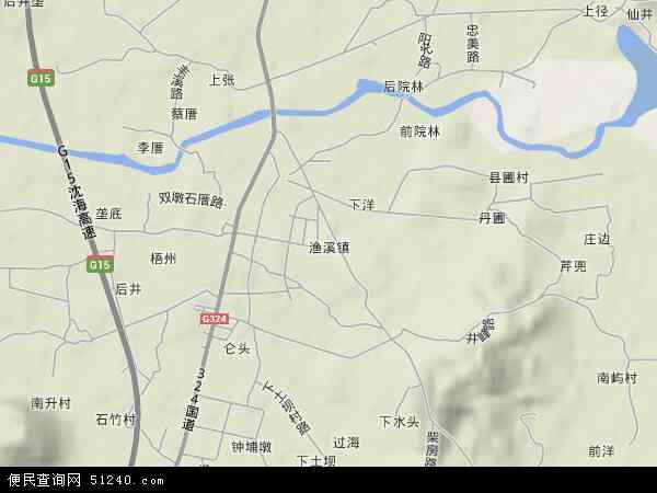 中国福建省福州市福清市渔溪镇地图(卫星地图)