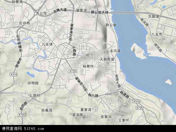 中国重庆市九龙坡区杨家坪地图 高清图片