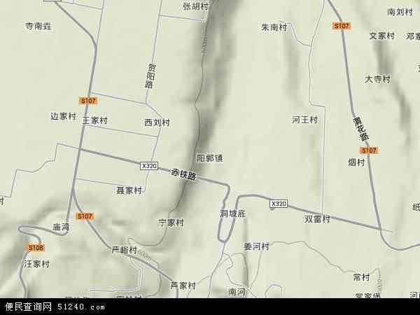 中国陕西省渭南市临渭区阳郭镇地图(卫星地图)