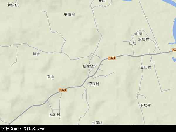 杨家镇地形图 - 杨家镇地形图高清版 - 2017年杨家镇地形图