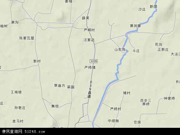中国安徽省芜湖市无为县严桥镇地图(卫星地图)