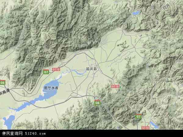 中国北京市延庆县地图(卫星地图)