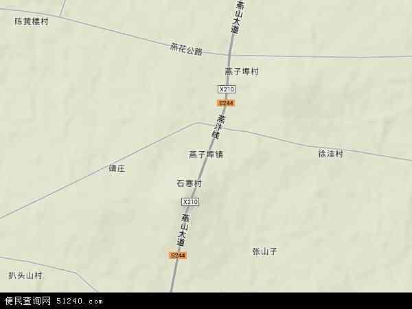 燕子埠镇地图 - 燕子埠镇卫星地图