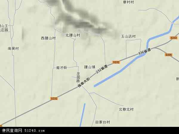 中国河北省保定市顺平县腰山镇地图(卫星地图)