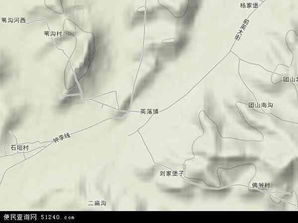 中国辽宁省鞍山市海城市英落镇地图(卫星地图)