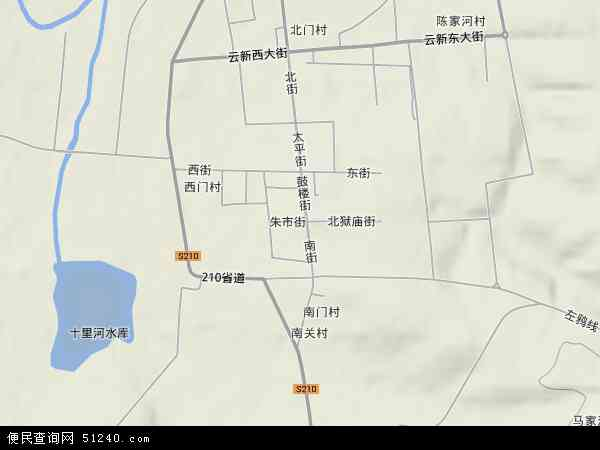 中国山西省大同市左云县云兴镇地图(卫星地图)图片