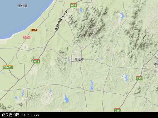 招远市地图 - 招远市卫星地图