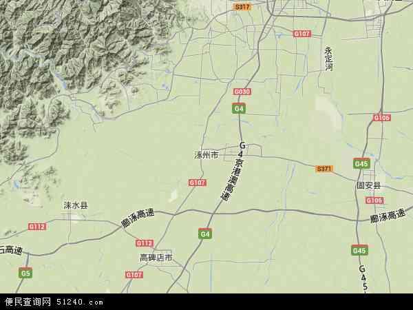 涿州市地图 - 涿州市卫星地图