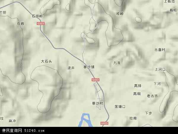 中国广西壮族自治区柳州市鹿寨县寨沙镇地图(卫星地图)