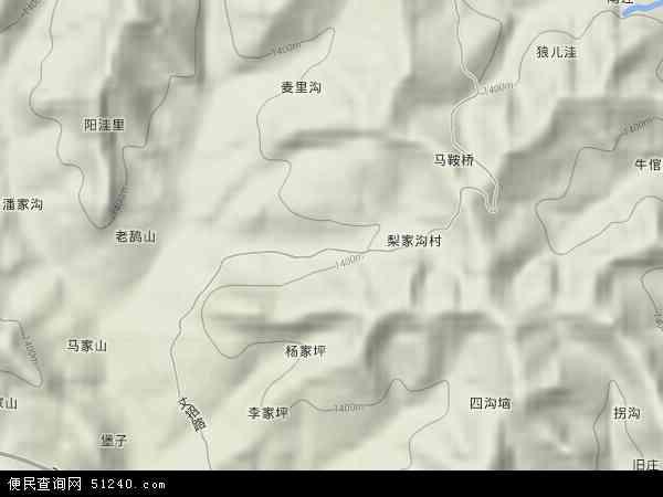 中国陕西省宝鸡市麟游县丈八镇地图(卫星地图)
