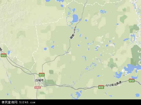镇赉县地图 - 镇赉县卫星地图